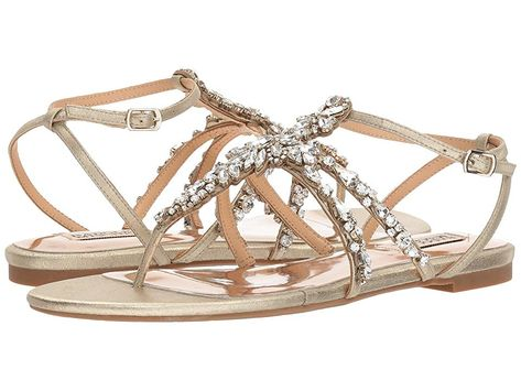 Badgley Mischka Womens Hampden Flat Sandal