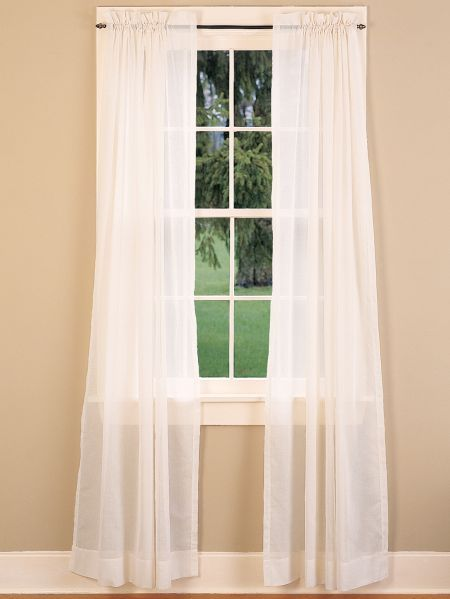 Cotton Voile Rod Pocket Tiers And Curtains Rod Pocket Curtains