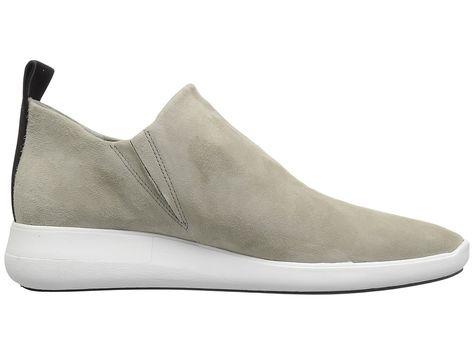 8b0cc4fca2e Via Spiga Marlow Women s Slip on Shoes Cement Stretch Kid Suede ...