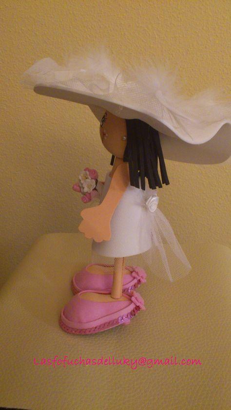 Fofunovios mini personalizados - novia lateral/Personalized mini fofucho dolls - one side of bride