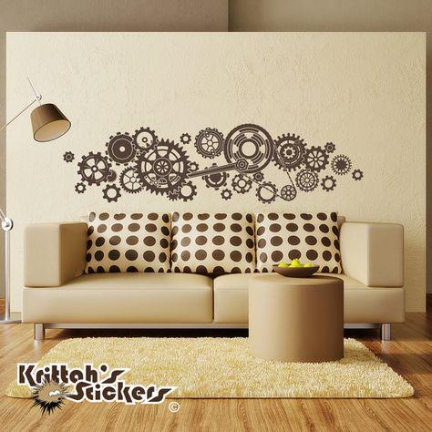 Creative Steampunk Fashion Home Decor Vintage Art Craft Gold New Wall Decoration