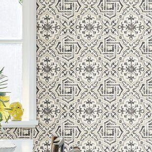 Mckinnon Speckle Paintable Peel And Stick Wallpaper Panel Joss Main In 2020 Geometric Wallpaper Wallpaper Roll Spanish Tile