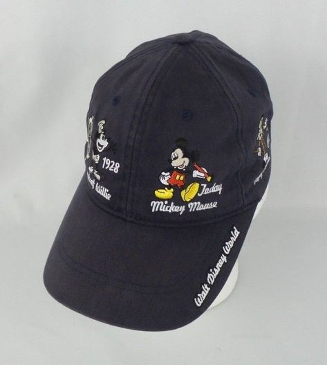 d8f78ac61c1d7 Walt Disney World Mickey Mouse Through the Years Navy Blue Adult Hat Park  Merch  Disney