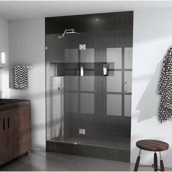 42 X 78 Hinged Frameless Shower Door Shower Doors Frameless