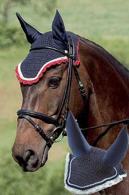 ROMA ZABEEL CROCHET EAR BONNET HORSE WEAR HORSE RIDING FLY BUG PROTECTION GEAR