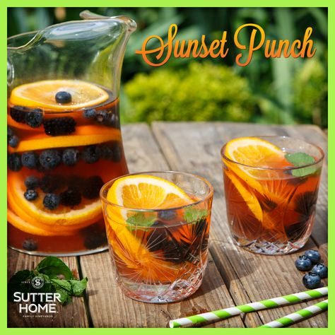 Enjoy summer with a glass of delicious Sutter Home Sunset Punch