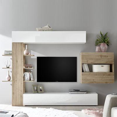 Meuble Tv Mural Blanc Et Bois Meuble Tv Moderne Grand Meuble Tv