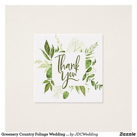 Greenery Country Foliage Wedding Thank You