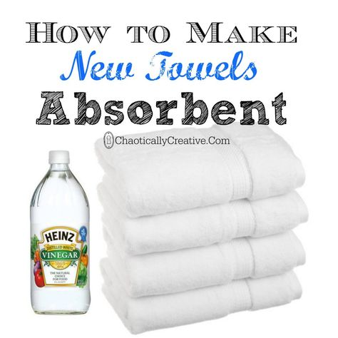 How to Make New Towels Absorbent... so simple to do!    www.chaoticallycreative.com