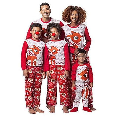Amazing offer on Family Matching Chirstmas Footed Pajamas Xmas Snowflake  Print Long Sleeve Hooded Zipper Onesie Footies online  e116713a8