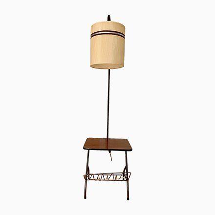 Mid Century Stehlampe Ecktisch 1960er Bei Pamono Kaufen Ecktisch Stehlampe Bodenlampe