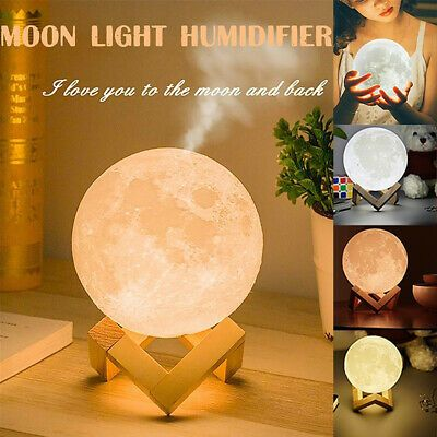 3d Moon Lamp Usb 880ml Air Humidifier Aroma Mist Diffuser Purifier Night Light Fashion Home Garden Homedcor Homef In 2020 Home Decor Mist Diffuser Home Fragrances
