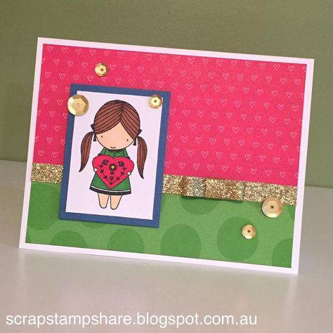 This card, created by Denise Tarlinton, CTMH Manager, features the new True Love…