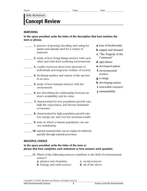 10 Science And Urban Life Worksheet Answers