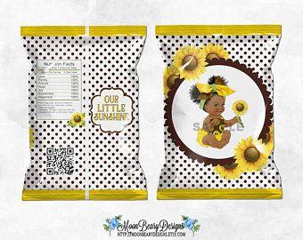 Medium Tone Baby Girl Puffs Princess Printable Chip Bags Pink /& Gold Tiara Digital Instant Download