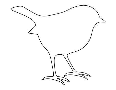 Robin Muster Verwenden Sie Den Druckbaren Umriss Zum Basteln Erstellen Von Schablonen Schr Schnittmuster Fur Stofftiere Tiervorlagen Vogelumriss