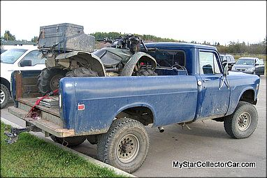 '75 IHC pickup-he needed a daily driver and he had a spare Cummins Diesel lying around...