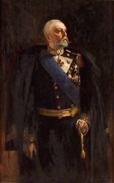 Oscar Björck - Oscar II of Sweden -1893  Oscar Gustaf Björck (1860–1929) was a Swedish painter and a professor at the Royal Swedish Academy of Arts.  Oscar II (21 January 1829 – 8 December 1907), baptised Oscar Fredrik,[1] was King of Sweden from 1872 until his death and King of Norway from 1872 until 1905. The third son of King Oscar I of Sweden and Josephine of Leuchtenberg, he was a descendant of Gustav I of Sweden through his mother.
