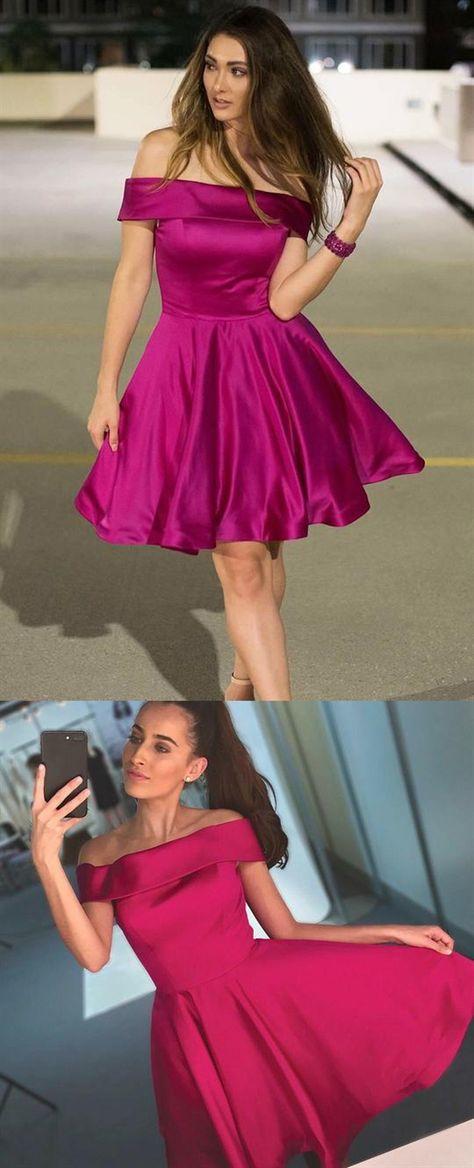 9e2e88176a Elegant A Line Off Shoulder Knee Length Homecoming Dresses Evening Dresses