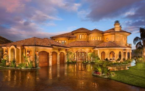 Golden House Hd Wallpaper Tuscan House Mediterranean House Designs Mediterranean Homes