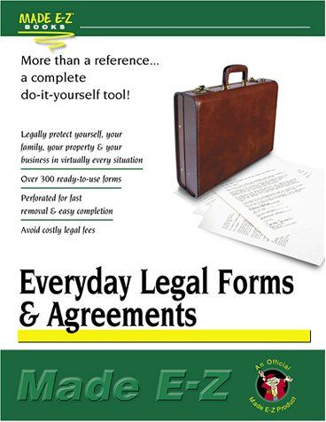 Download Pdf Everyday Legal Forms And Agreements Made Ez Made Ez Guides Free Epub Mobi Ebooks Legal Forms Z Book Legal
