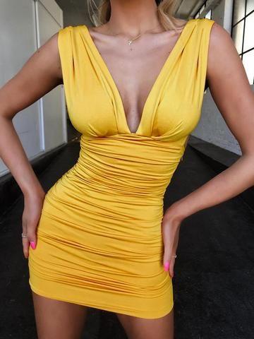 Women Bodycon Dress Holiday Party Sleeveless Pencil Dress