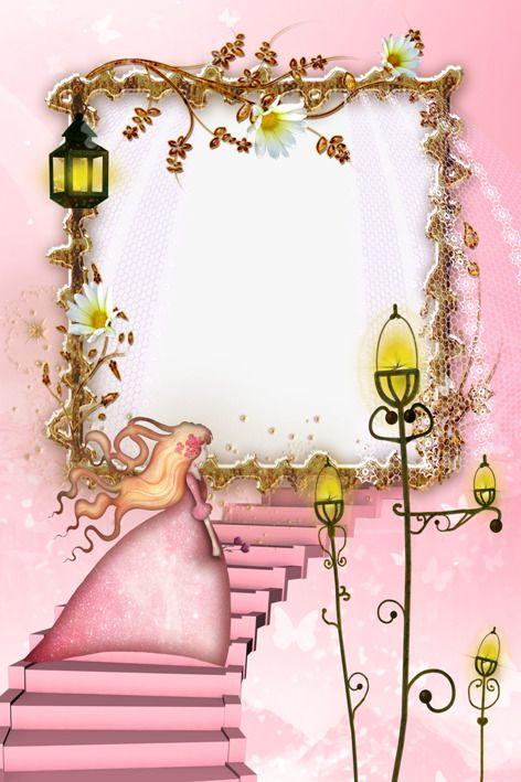 Romantic Pink Luces De Borde De La Hoja Bordes Para Hojas