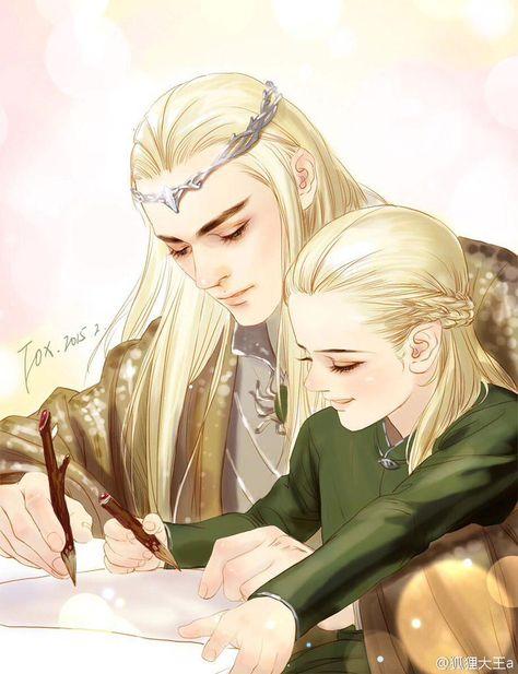 i'm not sorry about my elf problem — Thranduil & Legolas by 狐狸大王a Legolas Et Thranduil, Tauriel, Gandalf, Mirkwood Elves, Fanart, Jrr Tolkien, Loki Laufeyson, The Elf, Middle Earth