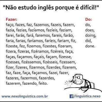 Portugues Vs Ingles Portuguese Vs English Tirinhas Em Ingles Memes Palavras Do Vocabulario