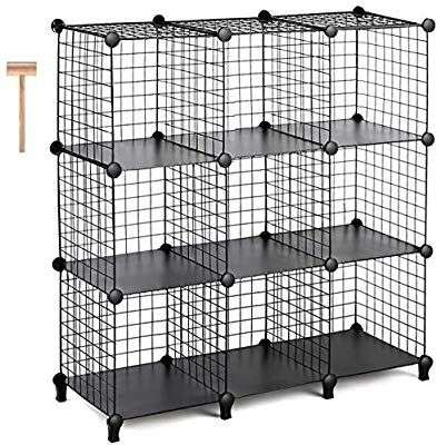 Tomcare Cube Storage 9 Cube Metal Wire Cube Storage Storage Cubes Shelves Cube Closet Organizer Stackable Storage Bins Diy Stackable Storage Bins Cube Shelves
