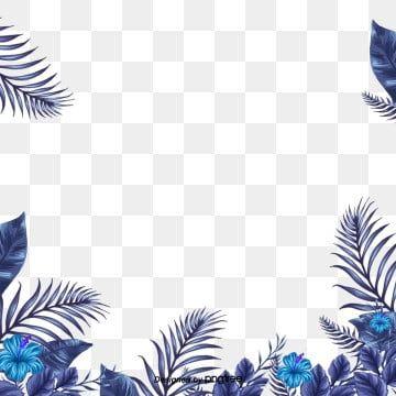 Simple Fresh Tropical Palm Leaf Border Originality Leaf Palm Leaf Border Png Transparent Clipart Image And Psd File For Free Download Cute Flower Wallpapers Flower Border Flower Frame