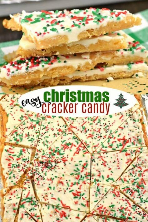 Christmas Crack candy recipe: melt in your mouth saltine toffee topped with whit.- Christmas Crack candy recipe: melt in your mouth saltine toffee topped with whit… Christmas Crack candy recipe: melt in your mouth saltine… - Christmas Crackers, Christmas Snacks, Christmas Cooking, Christmas Christmas, Christmas Cupcakes, Christmas Goodies, Holiday Baking Ideas Christmas, Homemade Christmas Candy, Easy Christmas Cookies
