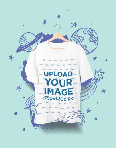 Download Click To Use This Template Mockup Of A T Shirt Hanging Against A Solid Background 2362 El1 Mockup Mockupdesign Shirt Mockup Mockup Generator Clothing Mockup