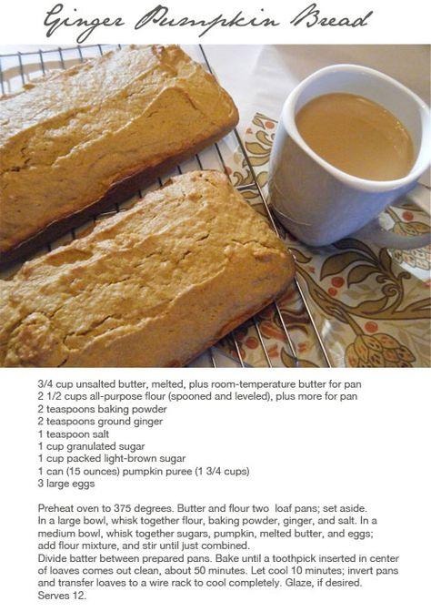 ginger pumpkin bread