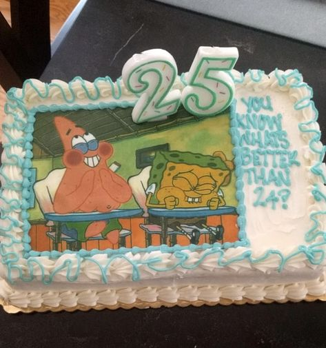 And finally, this girlfriend who got her boo a perfect Spongebob cake for his birthday: 17 Girlfriends Who Are Crushing This Whole Relationship Thing 25th Birthday Ideas For Him, 22nd Birthday Cakes, Funny Birthday Cakes, 25th Birthday Parties, Happy Birthday, Birthday Celebration, Birthday Wishes, Girlfriend Birthday, Husband Birthday