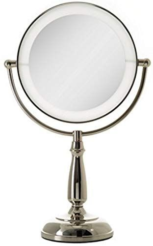 New Zadro Ultra Bright Dual Sided Led Lighted Vanity Make Up Mirror 1x 10x Magnification Polished Nickel Finish Online Makeup Mirror Mirror Polished Nickel