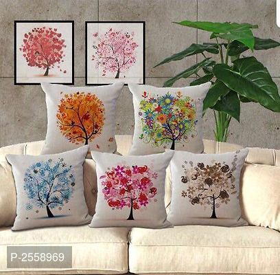 Jute Fabric Cushion Covers Set Of 5 Pcs Pillows Cushions Cushion Gift