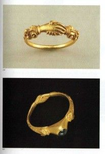 Gold fede rings, 16th century. The name