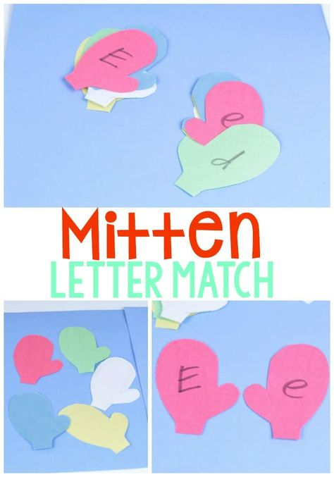 Make learning letters fun and winter-themed with the mitten letter matching activity! Kids can use the mittens to match uppercase and lowercase letters to improve letter recognition. Preschool Letter M, Letter M Crafts, Letter M Activities, Spelling Activities, Preschool Learning Activities, Classroom Activities, Letter Games, Literacy Games, Language Activities