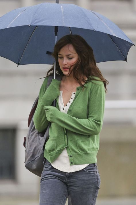 Dakota Johnson seen re-shooting the scenes for 'Fifty Shades of Grey'