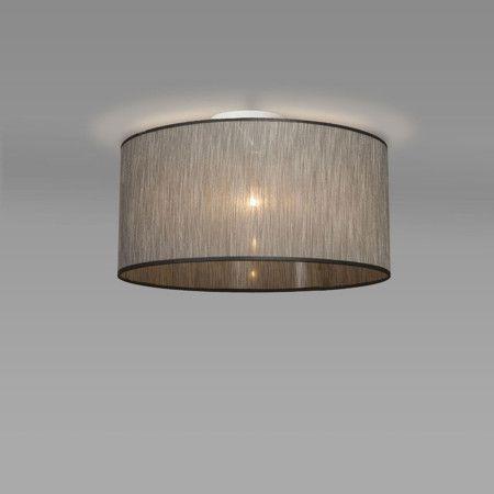 Deckenleuchte 71764 modern braun taupe Stoff rund Lampen - deckenleuchte schlafzimmer modern