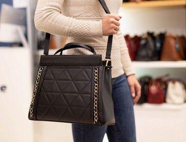 67007ec0138a7 Bolsa duas em uma de couro Andrea Vinci chocolate - Enluaze | Bolsas e  acessórios de