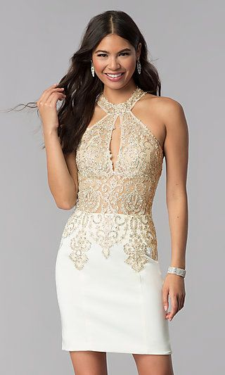 Jvnx By Jovani Short Off White Homecoming Dress White Homecoming Dresses Jovani Dresses Homecoming Dresses