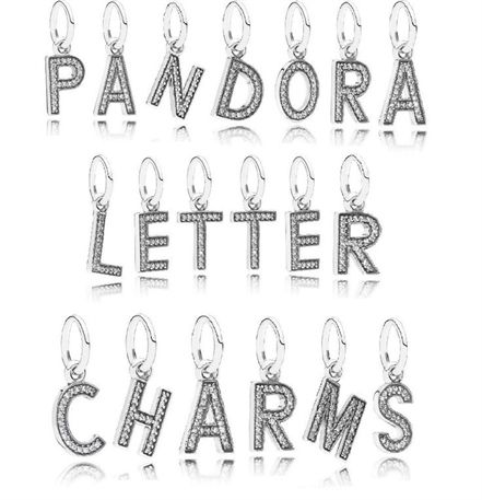 pandora charm originali ciondoli lettere