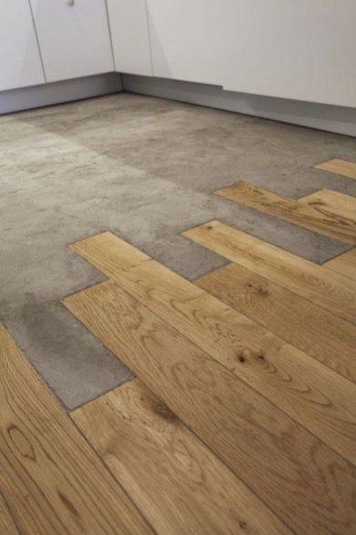 Marble Tiles Meeting The Wooden Floor 01 Concrete Wood Best Bathroom Flooring Flooring