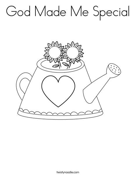 God Made Me Special Coloring Page Twisty Noodle Coloring Pages