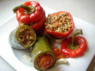 Vegetable Dolma Assyrian Recipes Stuffed Peppers Turkish Recipes Ground Meat