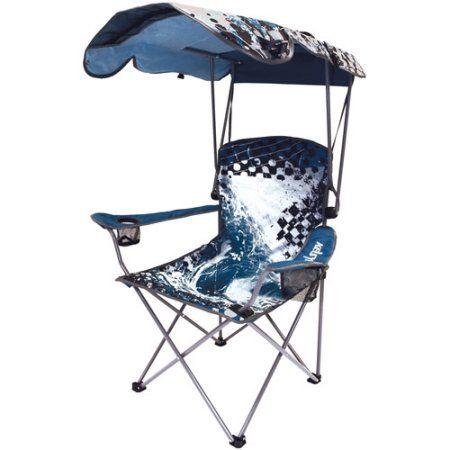 Buy Kelsyus Original Canopy Chair Blue Wave At Walmart Com