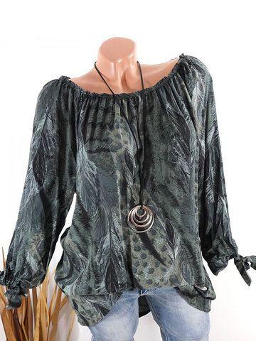 Essentials Plus Size Long-sleeve Mockneck fashion-t-shirts Donna