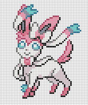 700 Sylveon By Electryonemoongoddes Pixel Art Templates Pixel Art Pokemon Pixel Art Pattern